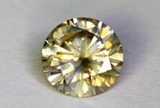 Diamant - 0.51 ct  - Fancy Yellowish Gray - Zonder Reserve Prijs