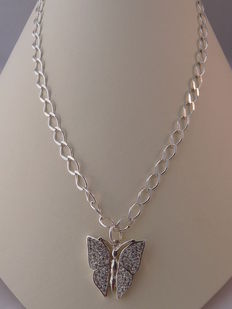 Ladies 925 silver necklace Length: 49.5 cm.  Weight: 15.69 g.