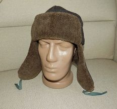 WW2 Original Soviet Cap with ear-flaps USSR 1941, Mark