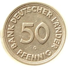 Federal Republic of Germany - 50 Pfennig 1950 G bank of the German countries
