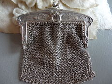 Jugendstil silver church money purse, ca. 1900