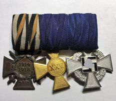 "WW I ""Clasp with 3 Medals"""