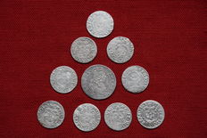 Poland / Lithuania - Lot of 10 coins from 17th century - silver