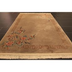 Schöner Handgeknüpfter China Art Deco Teppich  Made in China  200x120cm Carpet Tappeto Tapis Tapijt