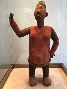 Ancient original funerary Doll in fabric - BWENDE - Former Belgian Congo
