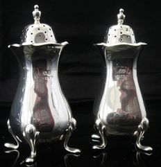 Pair of Large Silver Pepper Pots, Birmingham 1925, William Suckling Ltd
