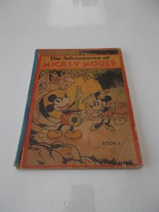 Disney, Walt - The Adventures of Mickey Mouse - Book 1 - hc - 1st edition (1931)
