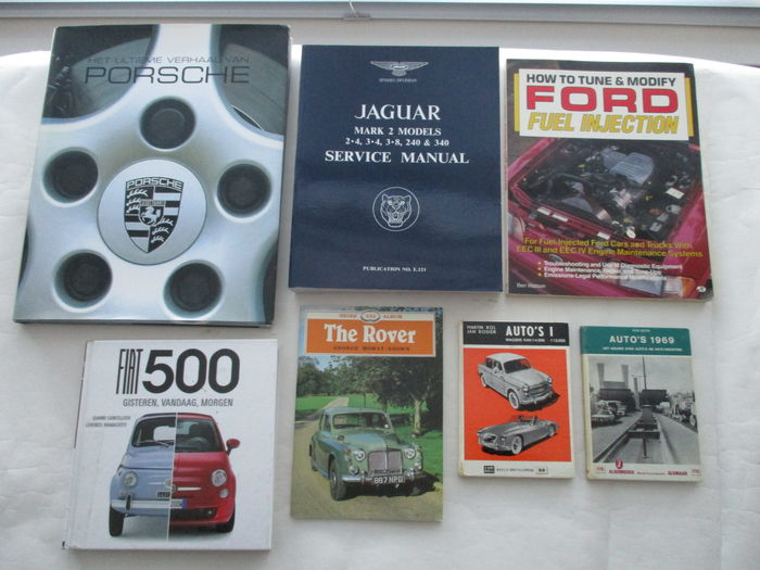 Lot of 7 exclusive Car books