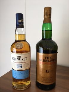 2 bottles - The Glenlivet Founder's Reserve & The Glenlivet 12 Years American Oak Finish