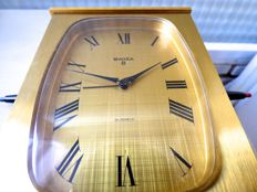 SWIZA - 8 day wind up - Alarm - Large centrepiece clock - Mid 20th century - Swiss made.