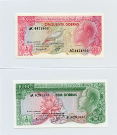 Saint Thomas and Prince - Complete Emissions 1982 -1989 -1993 - 9 banknotes