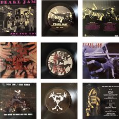 """Lot Of Three Very Collectable Live LP's By One Of The Greatest  Alternative Rock  &  Grunge Bands """"Pearl Jam"""""""