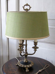 Old three-light bouillotte lamp French, 2nd half of 20th century