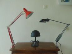 Three Industrial Desk Lamps
