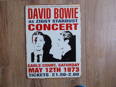 David Bowie Concert  Ziggy Stardust - Metal Concert Shield