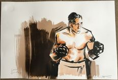Kleist, Reinhard - Original drawing - The boxer - Leen Sanders - (2012)