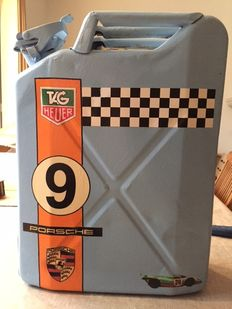 Porsche - Iron jerrycan on the Gulf theme / Tag Heuer - early 21st century