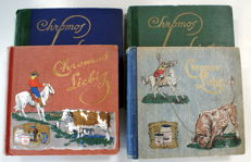 Liebig chromo albums in French - 200 sets of 6 cards in different series – 1898-1953
