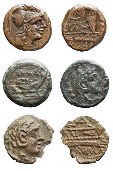Roman Republic - Lot 3 pieces. Ae