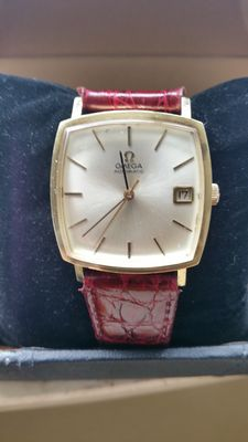 Omega automatic men's wristwatch - date - gold