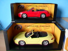 Gate - Scale 1/18 - Lot with 2 Porsche Carrera 996 Cabrio