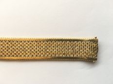 Bracelet in three-coloured 18 kt gold