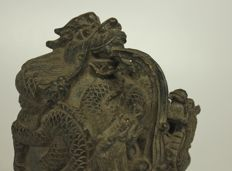 Bronze seal stamp with lion - China - late 20th century