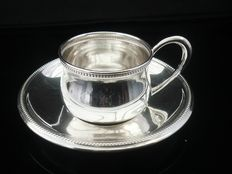 Silver Cup & Saucer, Otto Wolter , 20th Century