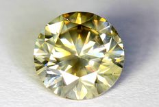 Diamant - 0.61 ct - Light Yellowish Gray - SI2 - Zonder reserve prijs