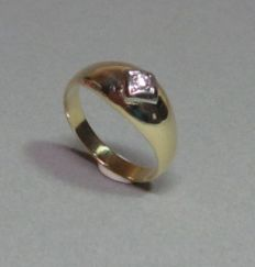 Ring in gold with 0.10 ct brilliant - RS 63