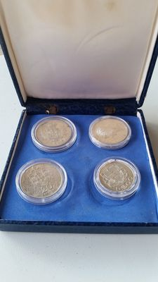 Portugal – 4 silver coins – 1907 to 1966 – Lisbon
