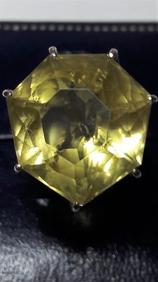 18 carat lemon citrine ring