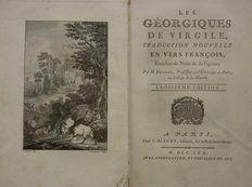Vergilius, M. Delille - Les Géorgique De Virgile, Traduction Nouvelle - 1770