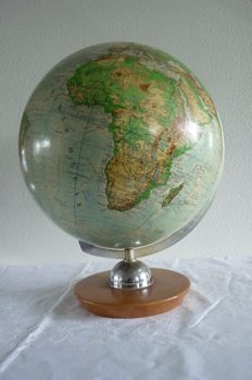 Decorative old geographical globe