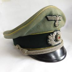 A German Schirmmütze for infantry NCOs of the Wehrmacht - WW2