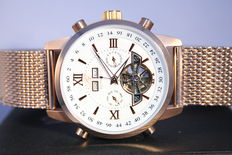 "Ingraham -- Calcutta ""Rose gold White"" -- men's wristwatch"