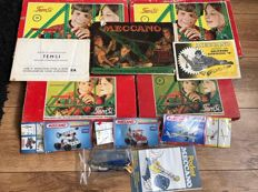 Temsi, The Netherlands/Meccano, England - lot with Temsi Construction boxes and some Meccano sets / descriptions, 1960s/90s