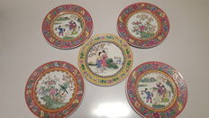 Five porcelain plates - China - Late 20th century