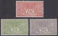 The Netherlands 1906 - Anti-tuberculosis stamps - NVPH 84/86.