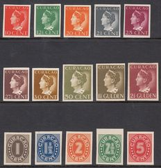 Curaçao 1941/1942 - Queen Wilhelmina - small collection of proofs.