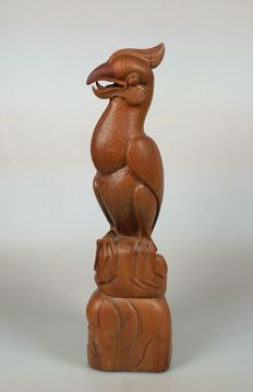 Woodcarving of a cockatoo - Bali -Indonesia