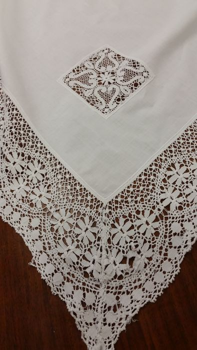 Pillow Lace Tablecloth From An Italian Private Collection, Circa 1920