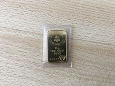 Gold ingot, Swiss bank, 10 g.