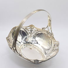 Designer sterling silver basket, international hallmarked 925