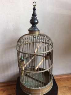 Large Victorian copper bird cage, ca. 1930