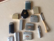 A lot of old lighters.