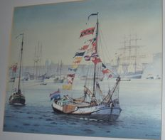 Limited (152/350) print for SAIL 1990, Amsterdam by artist Gerrit Neven.