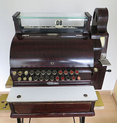 Beautiful antique National cash register, United States, 1928-30