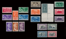 Kingdom of Italy, 1928-1930, 3 complete series with Airmail