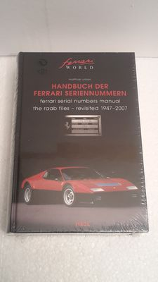 Manual of the Ferrari serial numbers - Matthias Urban - 980 pages